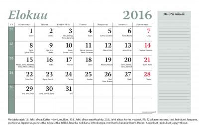 SJML 2016 kalenteri elokuu